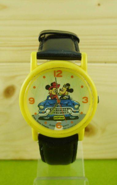 【震撼精品百貨】米奇/米妮_Micky Mouse~手錶-黃車子