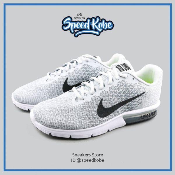 Nike Air Max Sequent 2 灰黑 氣墊避震 雪花編織 慢跑鞋 男 852461-002☆SP☆
