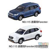 TOMICA多美小汽車 No.115 速霸陸Forester +初回 (2台一起賣) 79917 新車貼
