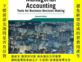二手書博民逛書店Managerial罕見Accounting: Tools for Business Decision Makin