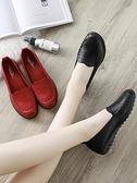 皮鞋 春秋款媽媽鞋軟底舒適單鞋中老年人女鞋奶奶防滑平底中年老人皮鞋  曼慕