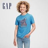 Gap男童 Gap x Marvel 漫威系列純棉短袖T恤 689819-藍色