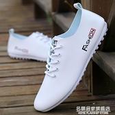 春季鞋子男休閒鞋透氣工作鞋軟底休閒皮鞋男士青年小白鞋豆豆鞋男 名購新品