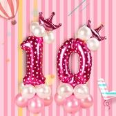 【2枚入】生日佈置寶寶周歲百天數字氣球裝飾路引派對布置氣球立柱【聚寶屋】