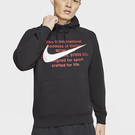 NIKE Sportswear Swoosh 男裝 長袖 連帽 棉質 柔軟 黑 【運動世界】 CJ4864-010