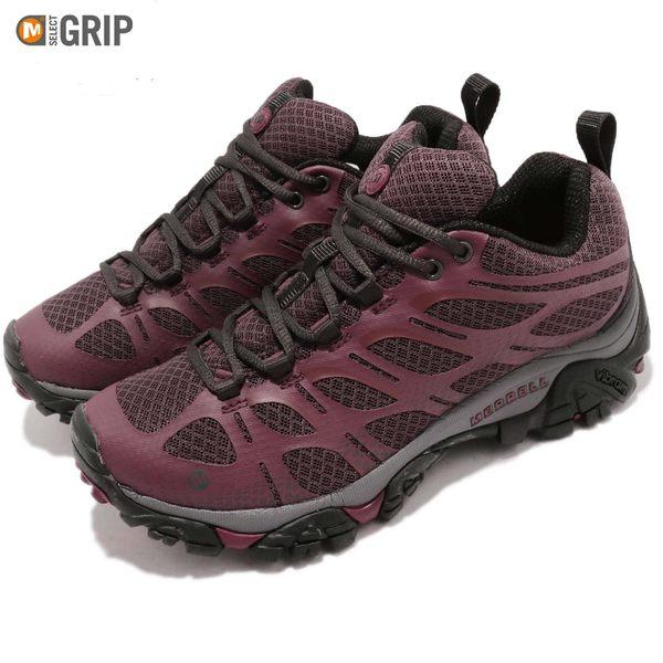 Merrell 戶外鞋 Moab Edge 紅 黑 內嵌式避震氣墊 透氣 健走 登山鞋 女鞋【PUMP306】 ML37110