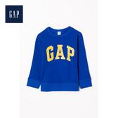 Gap男幼童簡約純色徽標LOGO抓絨上衣480078-純淨藍