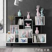 禮物 北歐擺件家居飾品客廳房間酒柜裝飾品擺件現代創意家居裝飾禮物 伊鞋本鋪
