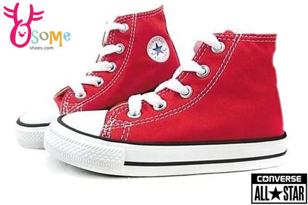 All STAR★Converse帆布鞋 小童基本款高筒帆布鞋 G9810#紅◆OSOME奧森童鞋/小朋友
