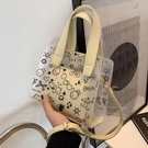 夏季透明小包包新款時尚網紅女包洋氣斜挎包女百搭手提果凍包 錢夫人小舖