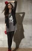 【 BETTY BOOP 】貝蒂品牌服飾特賣~坐鞦韆貝蒂圖雪袖造型袖搭棉布上衣 NO.BF13252
