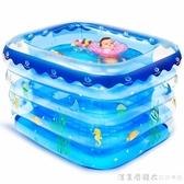 嬰兒游泳池家用超大充氣幼兒童加厚可摺疊室內寶寶小孩洗澡游泳桶 NMS漾美眉韓衣