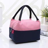 雙層保溫手提小包女牛津布防水帆布媽咪飯盒便當包袋手拎女包布包