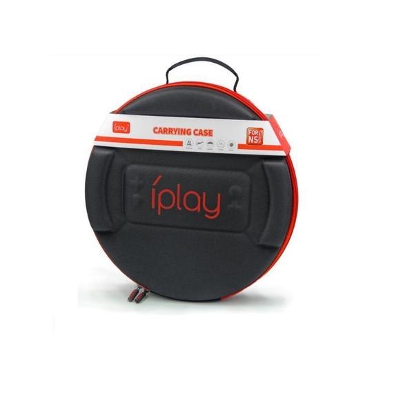 【玩樂小熊】Switch遊戲NS iPLAY 健身環專用收納 收納主機包 圓形硬殼包 黑色