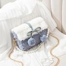 毛絨包包 新年禮物手工編織包包手織毛絨材料自制作情人節送女友diy手工包 星期八