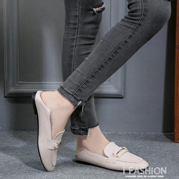 單鞋女春夏季新款韓版百搭平底鞋大碼313233豆豆鞋-ifashion
