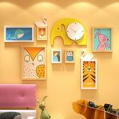 兒童房照片墻組合相框墻簡約現代可愛呆萌卡通插畫創意寶寶相片墻 英雄聯盟igo