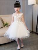 熊孩子❤兒童禮服公主裙女童婚紗裙(白色)