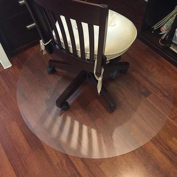 PVC透明木地板保護墊家用電腦椅地墊水晶板圓形辦公室轉椅墊超薄jy【好康熱賣八八折爆甩】