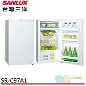 限區配送+基本安裝SANLUX 台灣三洋 97L 一級能效單門冰箱 SR-C97A1