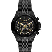 Michael Kors Bayville 城市菁英計時手錶-黑/44mm MK8750