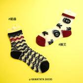 日本圈叉鋸齒透明襪/2色【558061508】