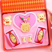 金寶珍銀樓-平平安安-彌月金飾音樂禮盒(0.30錢)