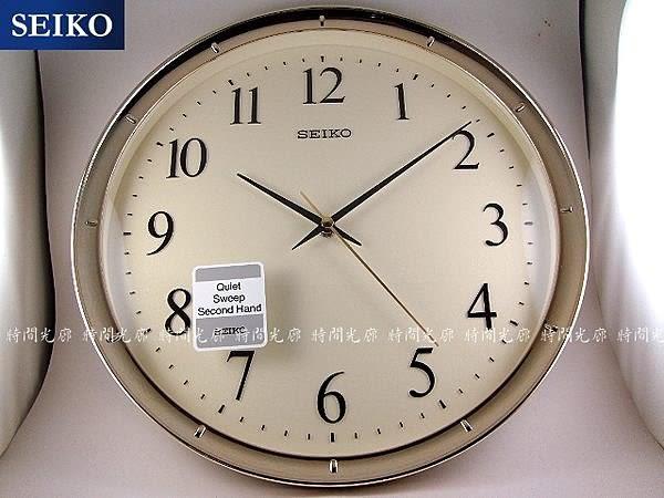 【時間光廊】SEIKO 日本 精工掛鐘 滑動式 靜音 金框 全新原廠公司貨 QXA417G
