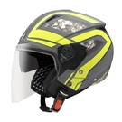 【東門城】ASTONE RST AQ6 (平光深灰/黃) 半罩式安全帽 雙鏡片