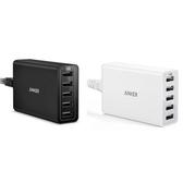 美國Anker PowerPort 40W USB充電器A21245白色