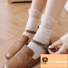 5雙 超薄絲襪中筒襪薄款女蕾絲花邊公主襪日系春秋潮長筒襪【小獅子】