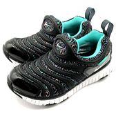 《7+1童鞋》中童 NIKE DYNAMO FREE SE (PS) 彈性TPU伸縮網布 毛毛蟲鞋 運動鞋 F869 黑色