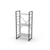(組)特力屋萊特三層架黑框/白板-60x40x128cm