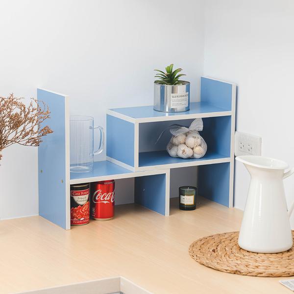 樂嫚妮 多用途收納置物書架-天藍色