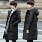 羽絨服 新款反季男士羽絨服男中長款過膝加厚冬季外套暖韓版潮流清倉 雙十一狂歡