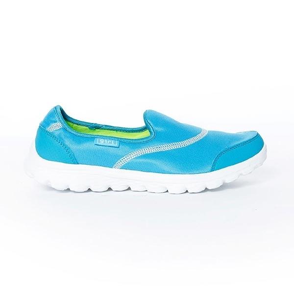 TOP GIRL 健走氣墊休閒鞋-淺藍