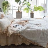 繽紛佳人 SPS3單人鋪棉床裙與雙人兩用被四件組 100%精梳棉 台灣製 棉床本舖