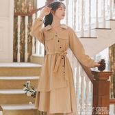 秋冬輕熟風輕奢連身裙女裝秋季2021年新款設計感裙子長袖冬裙長裙 夏季新品