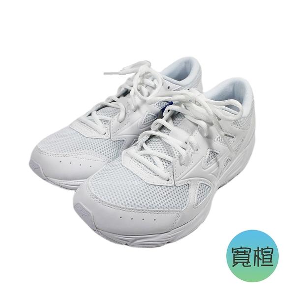 (BY) MIZUNO 女鞋 大童鞋 MAXIMIZER 23 寬楦 基本款 透氣 學生鞋 K1GA210201 全白 [陽光樂活]