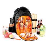 野餐包 含2人餐具組-超大加厚戶外自駕裝備保溫燒烤雙肩後背包68ag18【時尚巴黎】