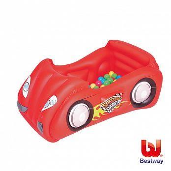 Bestway 賽車造型充氣遊戲池/球池-附50顆球