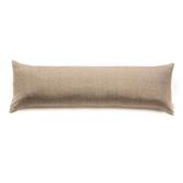 HOLA 新素色織紋長抱枕40x120cm 棕色