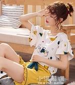 春秋睡衣女夏季薄款純棉短袖學生兩件套裝韓版可愛家居服女士夏天『小淇嚴選』