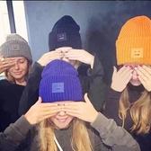 韓國毛線帽子女冬天針織帽休閑百搭保暖韓版潮秋冬時尚加厚護耳帽