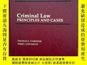 二手書博民逛書店CriminaI罕見Law PRINCIPLES AND CAS