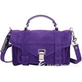 PROENZA SCHOULER PS1 Tiny 麂皮斜背/手提學院包(葡萄紫) 1920678-04