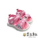 【樂樂童鞋】【台灣製現貨】MIT迷彩兒童涼鞋-粉 C029-1 - 現貨 台灣製 涼鞋 女童鞋 男童鞋 小童鞋
