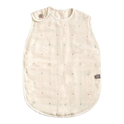日本製 Hoppetta 六層紗波西米亞防踢被 嬰幼兒款 0~3 歲 M號 扣子款 滿月禮