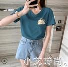 短袖t恤女2020年新款韓版寬鬆大碼時尚洋氣夏裝ins潮百搭上衣2021 小艾新品