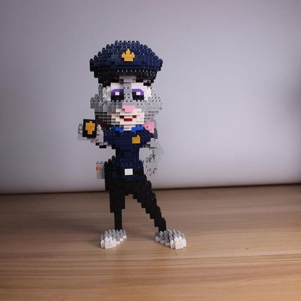 兒童成人益智玩具積木朱迪尼克兔子狐貍模型【聚寶屋】